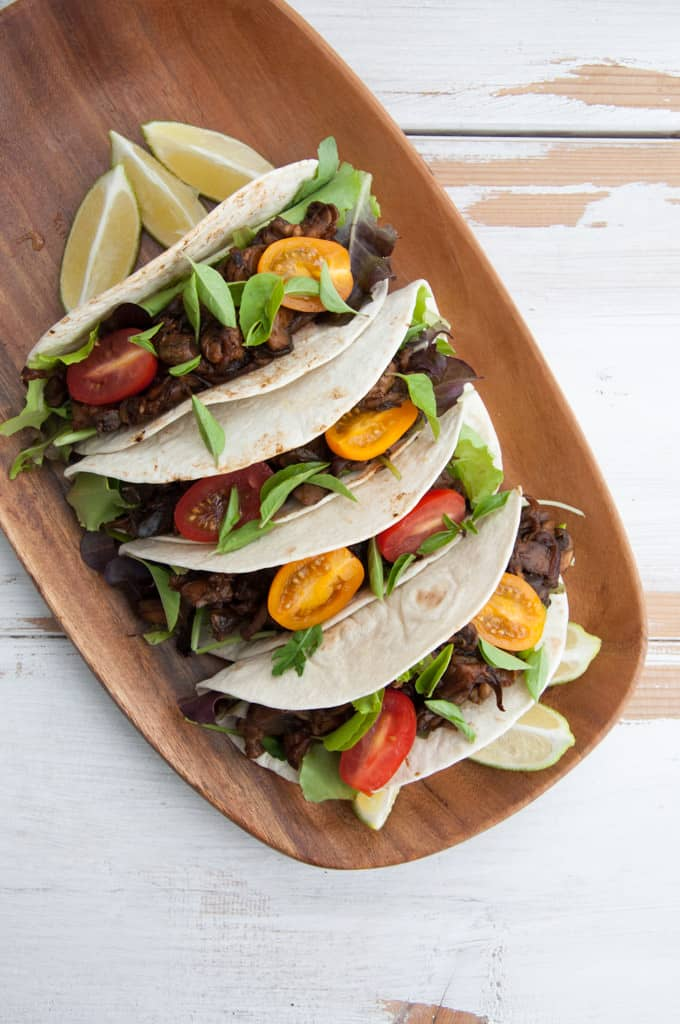 Vegan Pulled Portobello Tacos