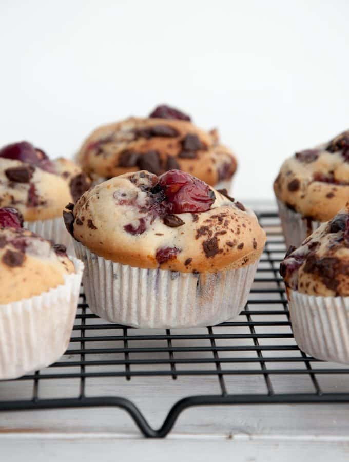 Vegan Cherry Chocolate Muffins