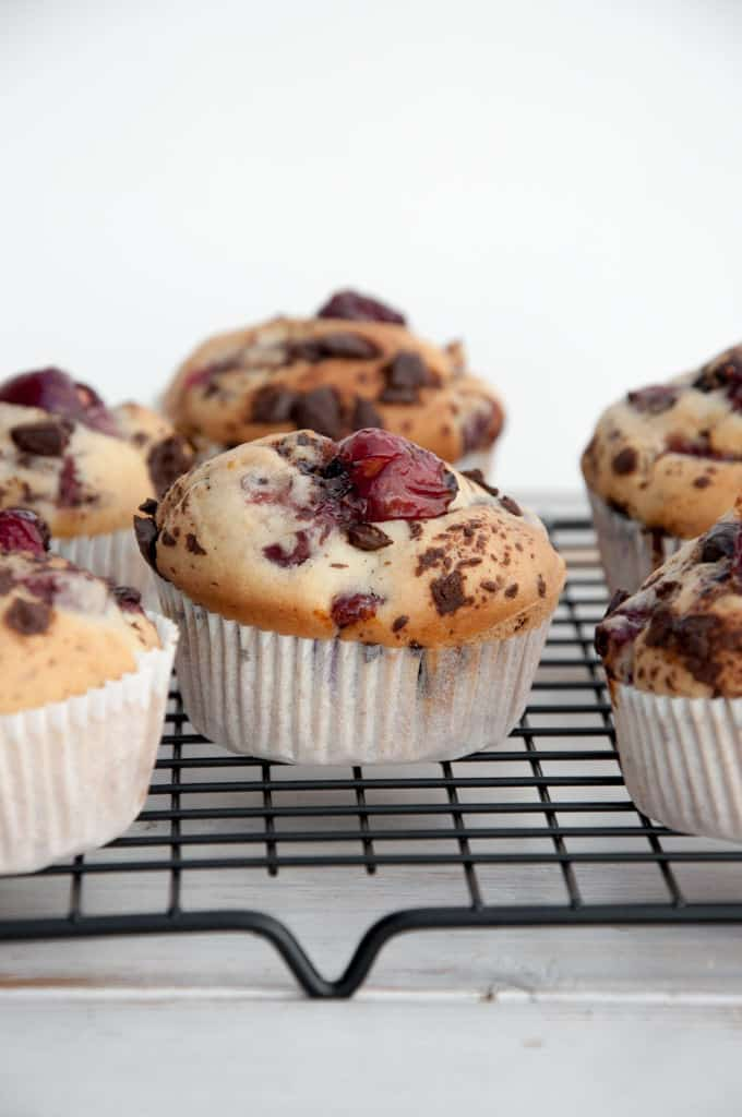 Cherry Chocolate Muffins
