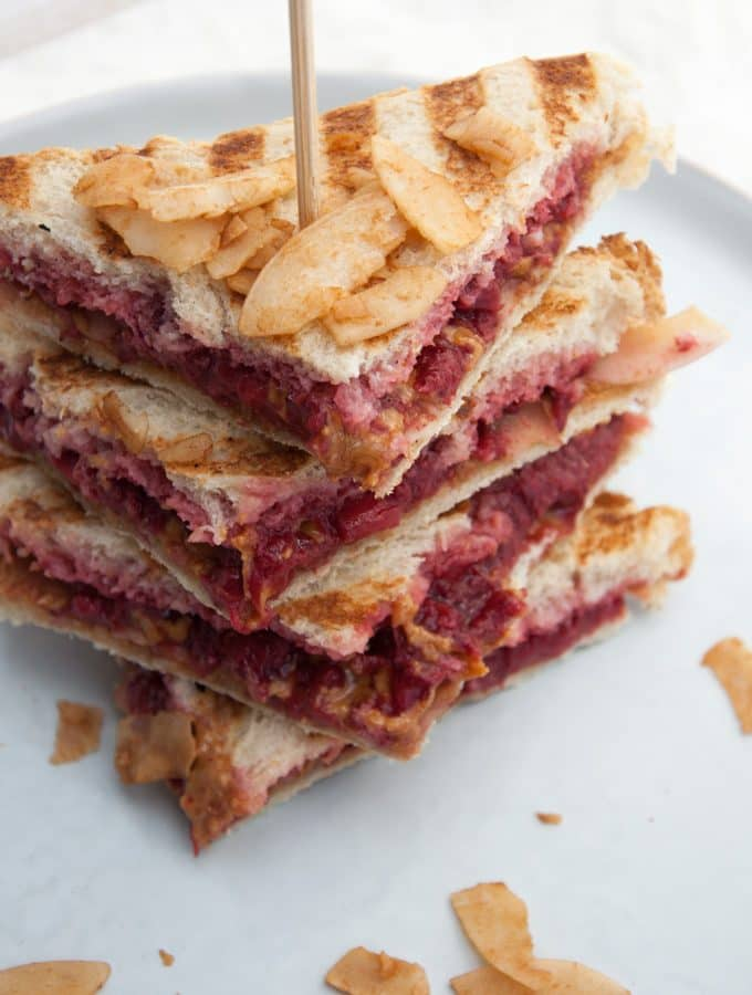 Vegan PBJ Coconut Bacon Sandwich