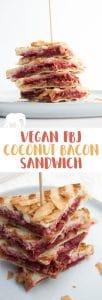 Vegan PBJ Coconut Bacon Sandwich | ElephantasticVegan.com