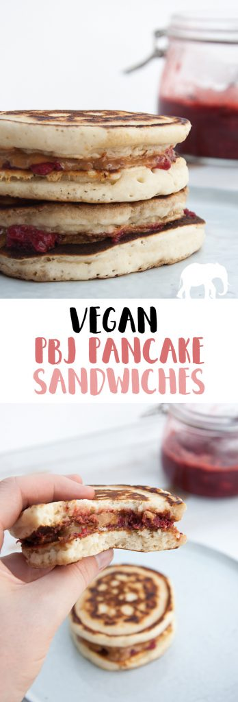 Vegan PBJ Pancake Sandwiches | ElephantasticVegan.com