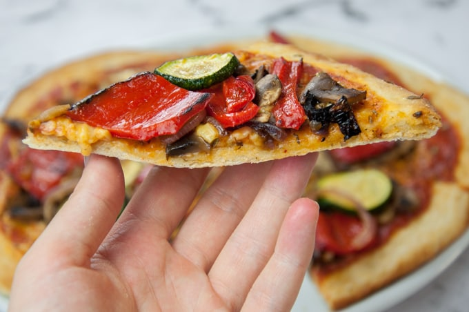 Grilled Veggie Pizza with Yeast-Free Crust