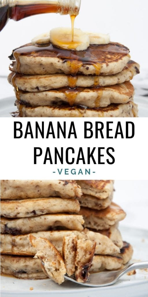 Vegan Banana Bread Pancakes