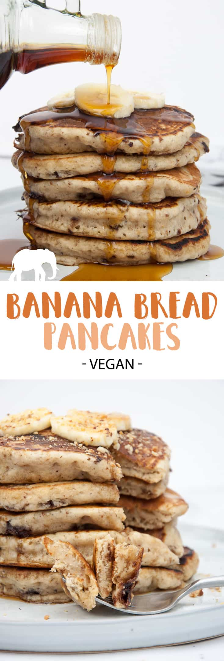 Vegan Banana Bread Pancakes #vegan #banana #pancakes #breakfast #sweet #pancakesunday