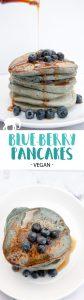 Vegan Blue-Berry Pancakes - Naturally Colored | ElephantasticVegan.com