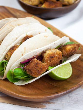 Vegan Pumpkin Nugget Tacos  ElephantasticVegan.com
