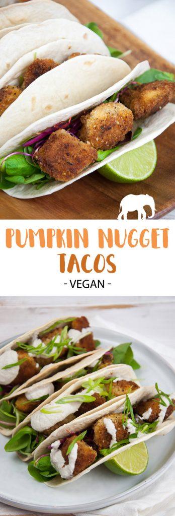 Vegan Pumpkin Nugget Tacos |ElephantasticVegan.com