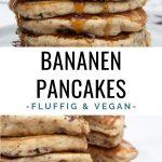 Vegane Bananen Pancakes mit Schokostückchen