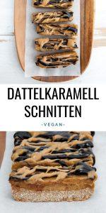 Vegane Dattelkaramellschnitten