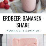 Gefrorener Erdbeer-Bananen-Shake