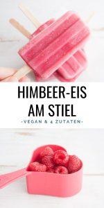 Veganes Himbeer-Eis am Stiel
