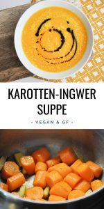 Vegane Karotten-Ingwer-Suppe