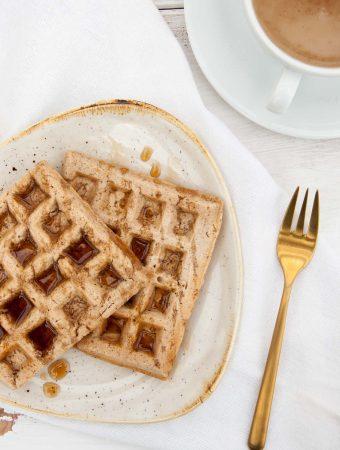 Vegan Chai Waffles |ElephantasticVegan.com