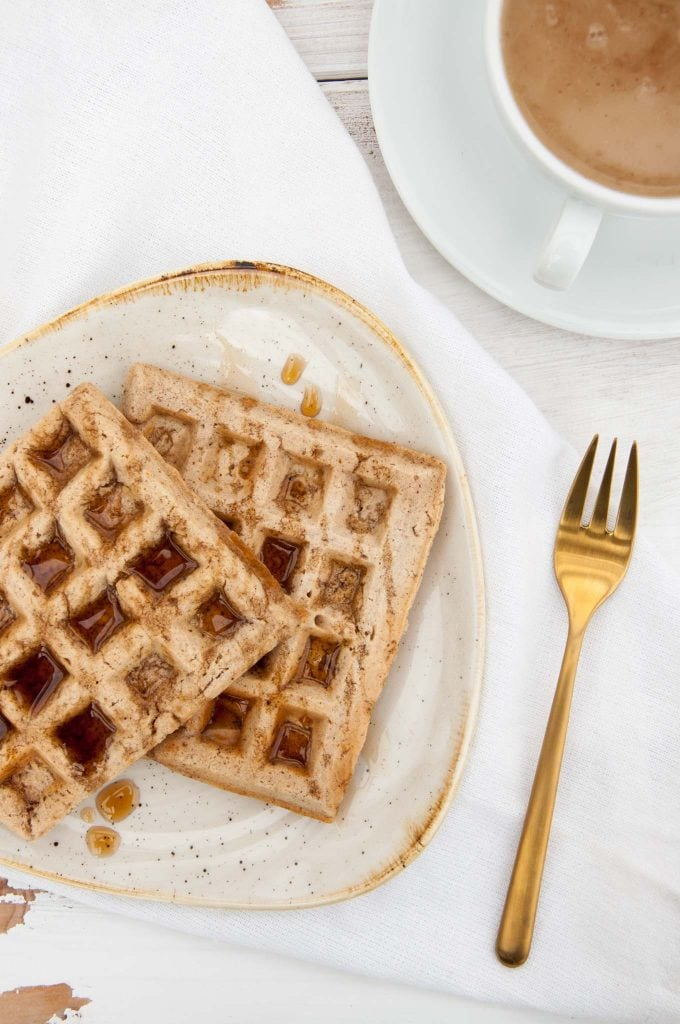Vegan Chai Waffles | ElephantasticVegan.com