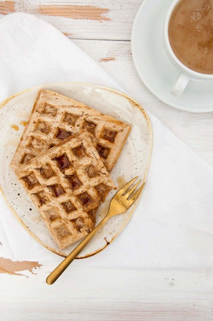 Dairy-Free, Egg-Free, Vegan Chai Waffles |ElephantasticVegan.com