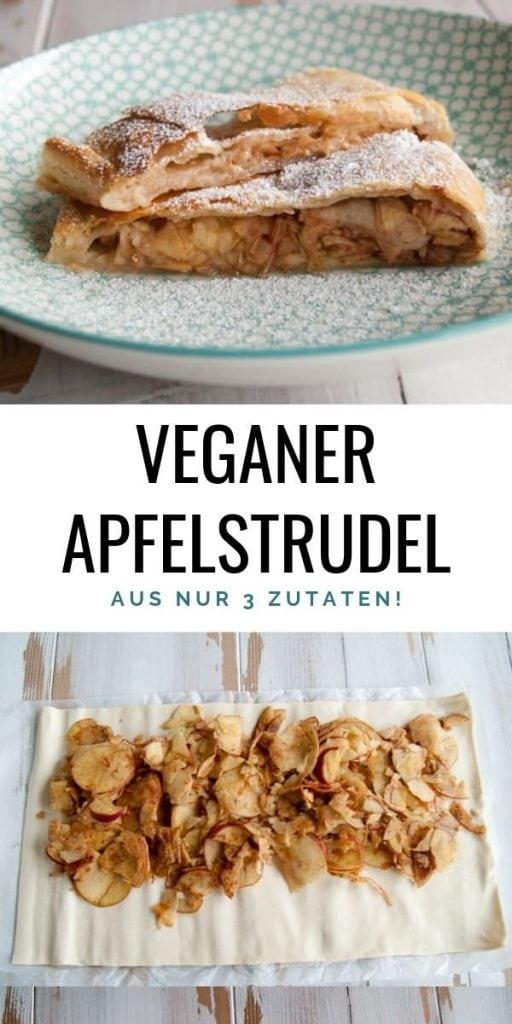 Veganer Apfelstrudel aus nur 3 Zutaten