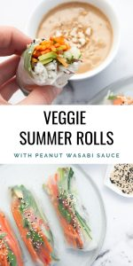 Veggie Summer Rolls with Peanut Wasabi Sauce