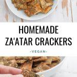 Vegan Za'atar Crackers