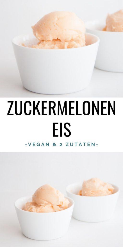 Veganes Zuckermelonen-Eis