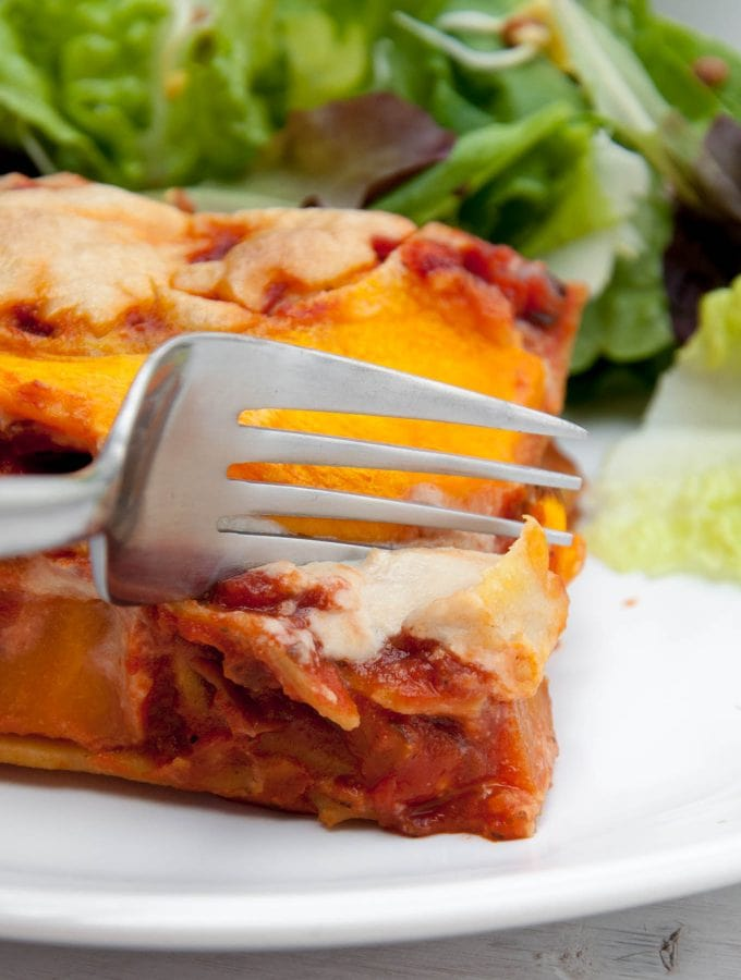 Vegan Pumpkin Lasagne with Cashew Cheese