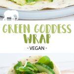 Green Goddess Wrap (vegan) with Spinach Falafel