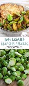 Pan-Roasted Brussels Sprouts in Soy Sauce
