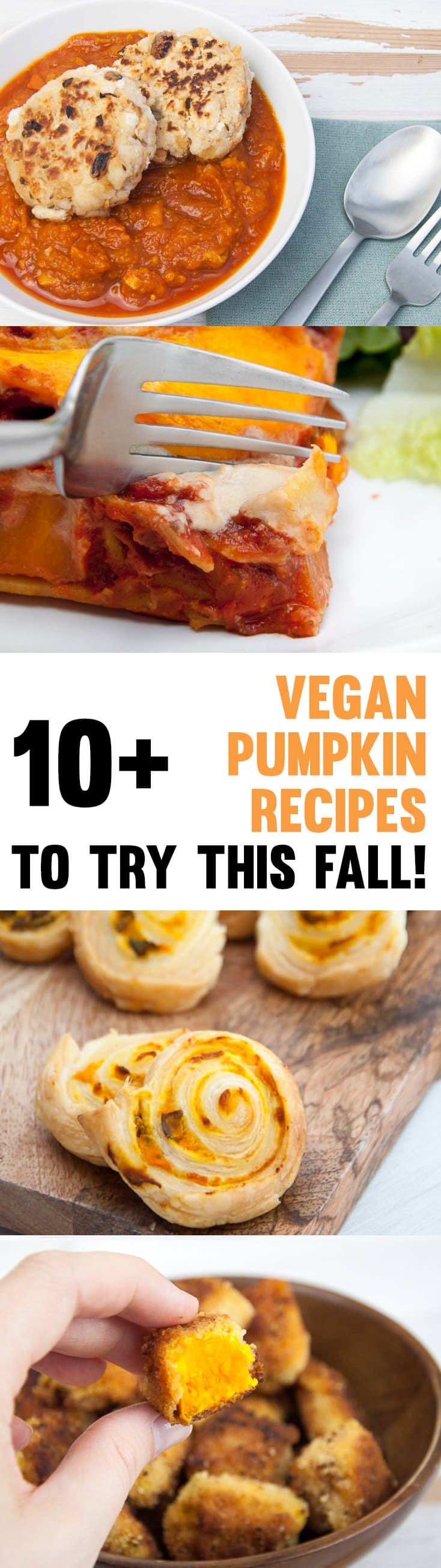 10+ Vegan Pumpkin Recipes to Try this Fall! #vegan #pumpkin #recipes #fall #autumn | ElephantasticVegan.com