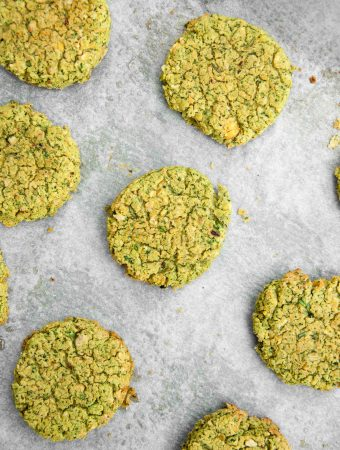 Baked Spinach Falafel on a baking tray