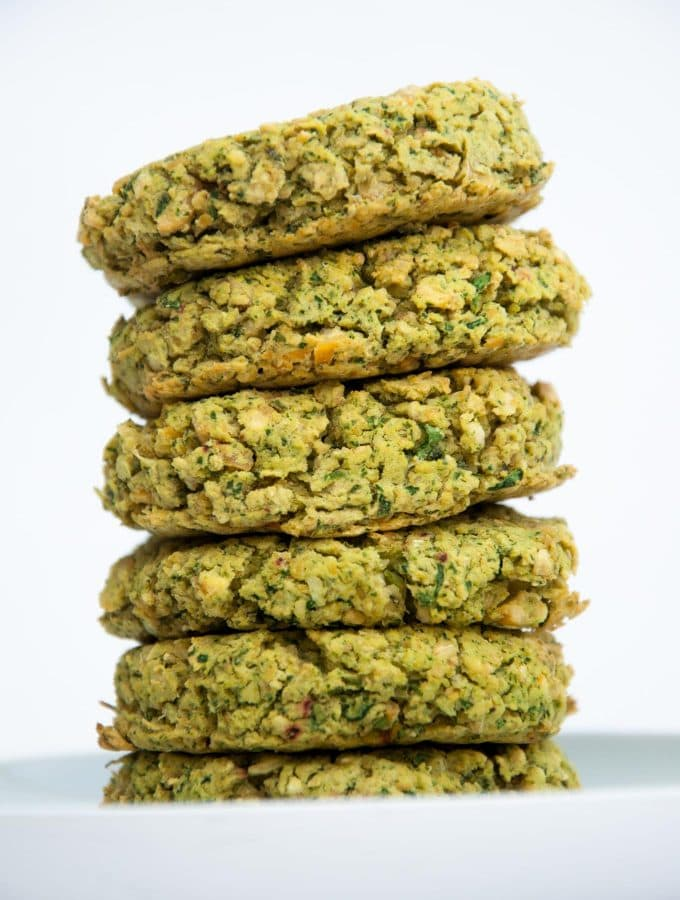 Stack of Baked Spinach Falafel