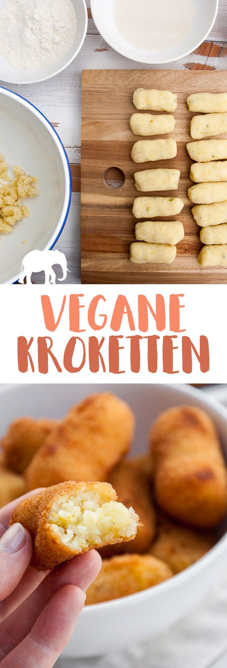 Vegane Kroketten - außen knusprig, innen weich #vegan #kroketten