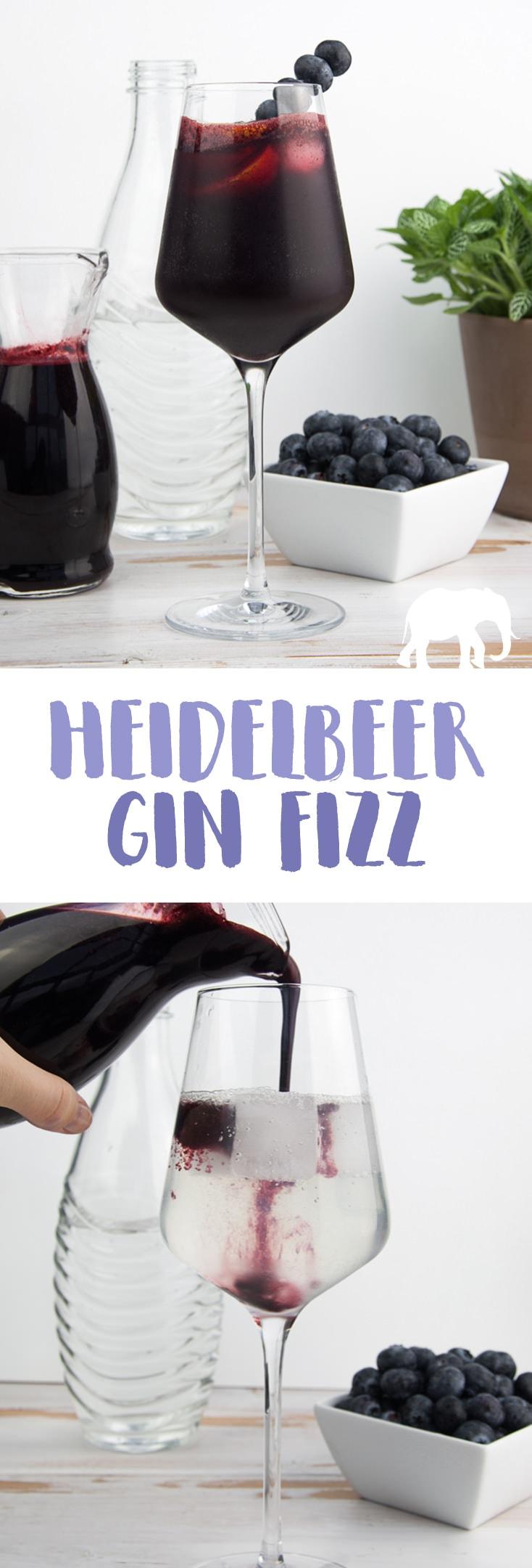 Heidelbeer-Gin-Fizz mit selbstgemachtem Heidelbeer-Sirup |Kooperation mit SodaStream {werbung} #cocktail #heidelbeeren
