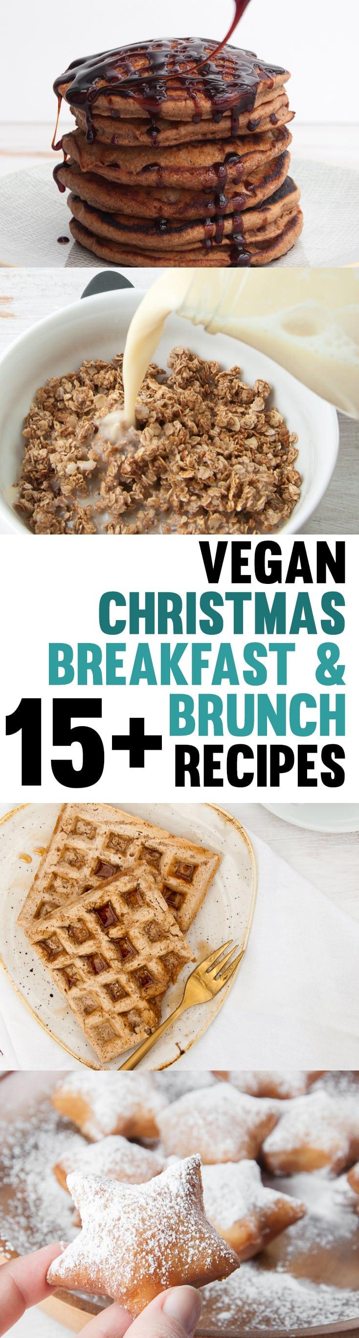 15+ Vegan Christmas Breakfast and Brunch Recipes #vegan #christmas #breakfast #brunch #festive | ElephantasticVegan.com