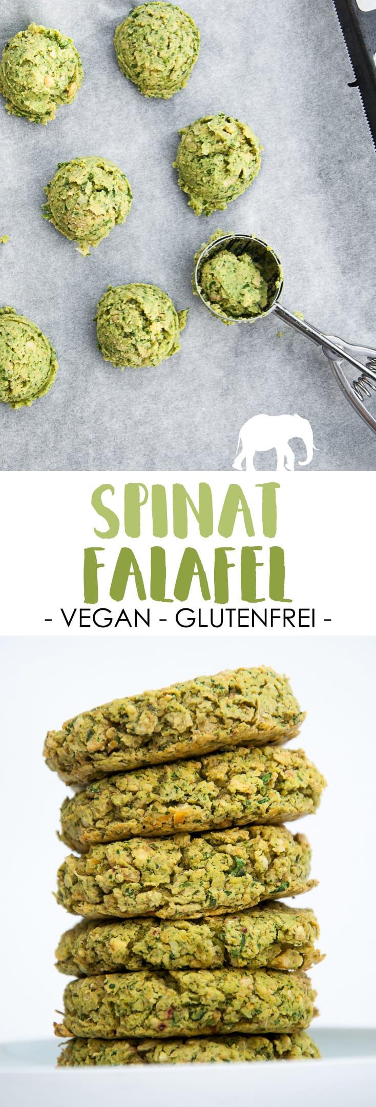 Spinat-Falafel #vegan #glutenfrei | ElephantasticVegan.de