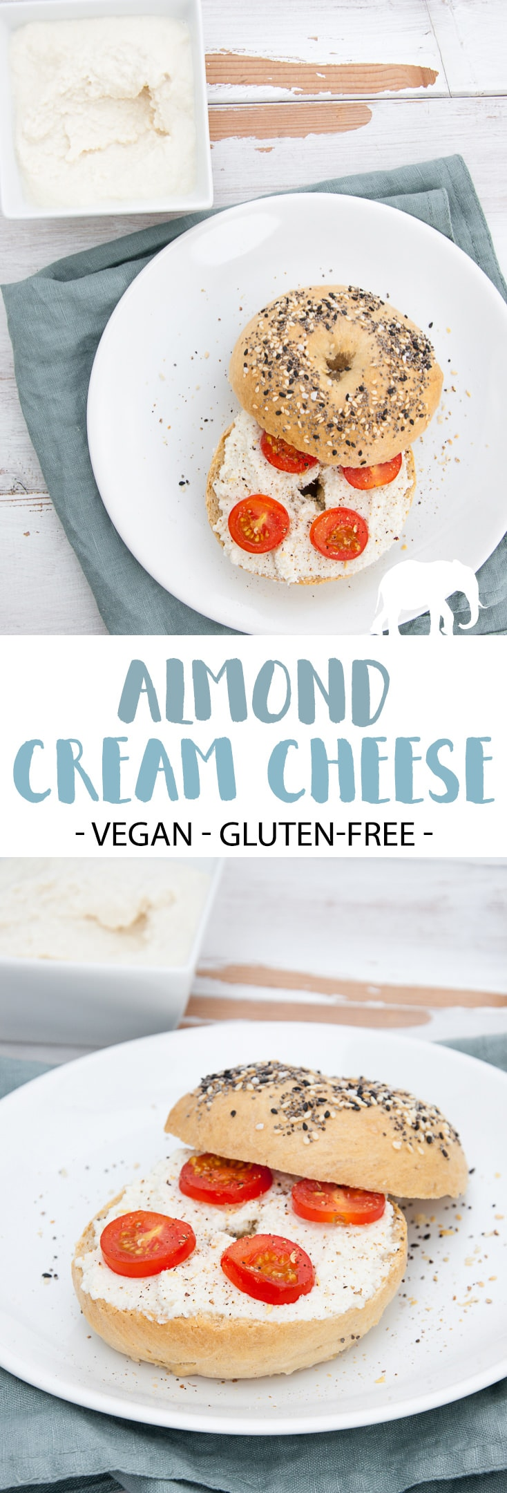 Almond Cream Cheese (vegan and gluten-free) #almond #creamcheese #vegancheese #vegan #glutenfree