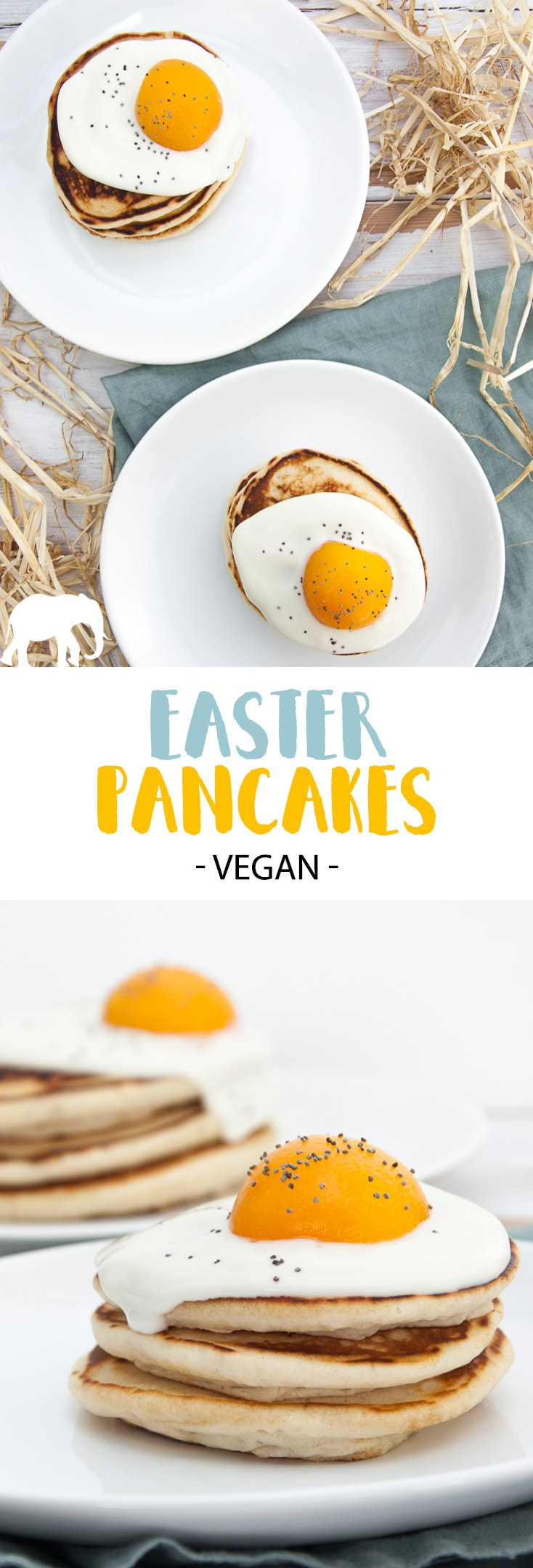 Vegan Easter Pancakes #vegan #easter #pancakes #plantbased #breakfast #brunch