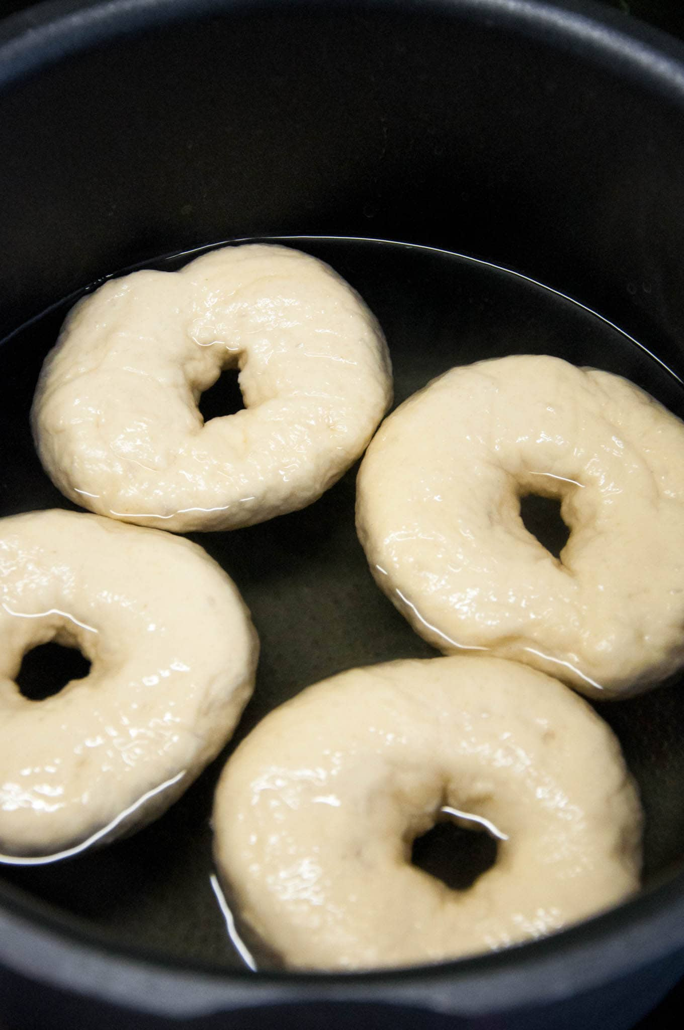 Everything Bagels in the waterbath