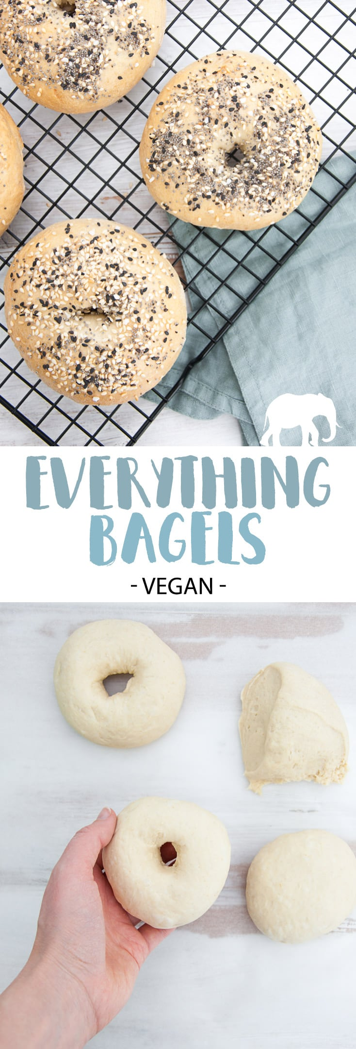 Everything Bagels - easy to make at home! | ElephantasticVegan.com #vegan #bagels #everything #bread