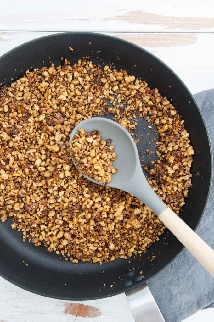 Walnut Meat in a pan