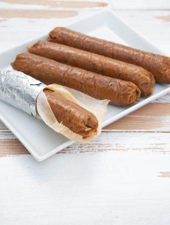 Homemade Vegan Sausages