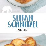 Seitan Schnitzel - Homemade Seitan coated in breadcrumbs and pan-fried until golden and crispy