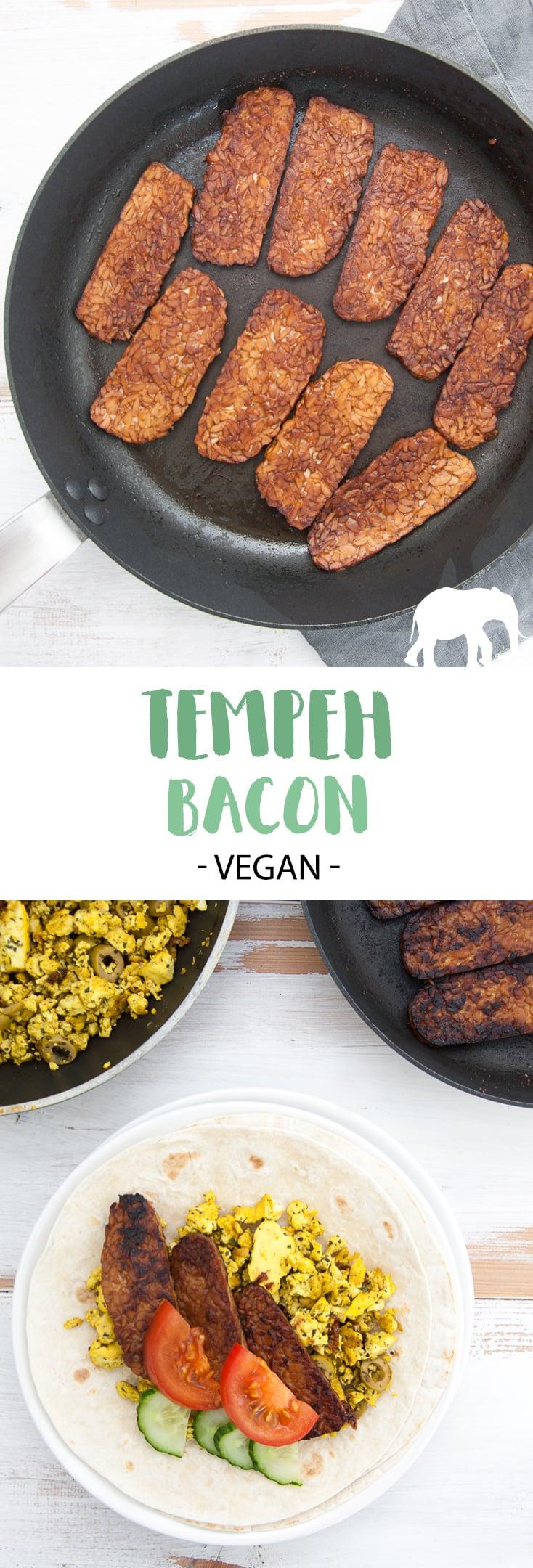 Vegan Tempeh Bacon - a delicious smoky plant-based alternative! #vegan #tempeh #bacon