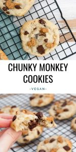 Vegan Chunky Monkey Cookies