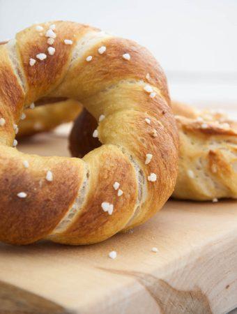 Twisted Pretzel Bagels