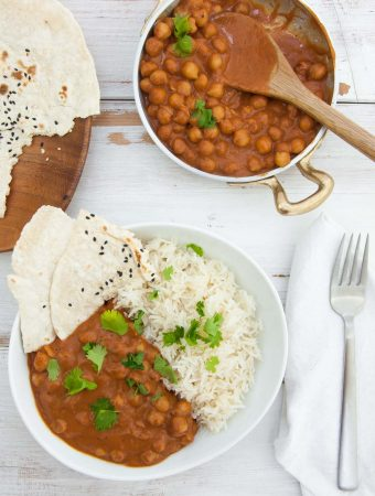 15-Minute Chickpea Curry Vegan