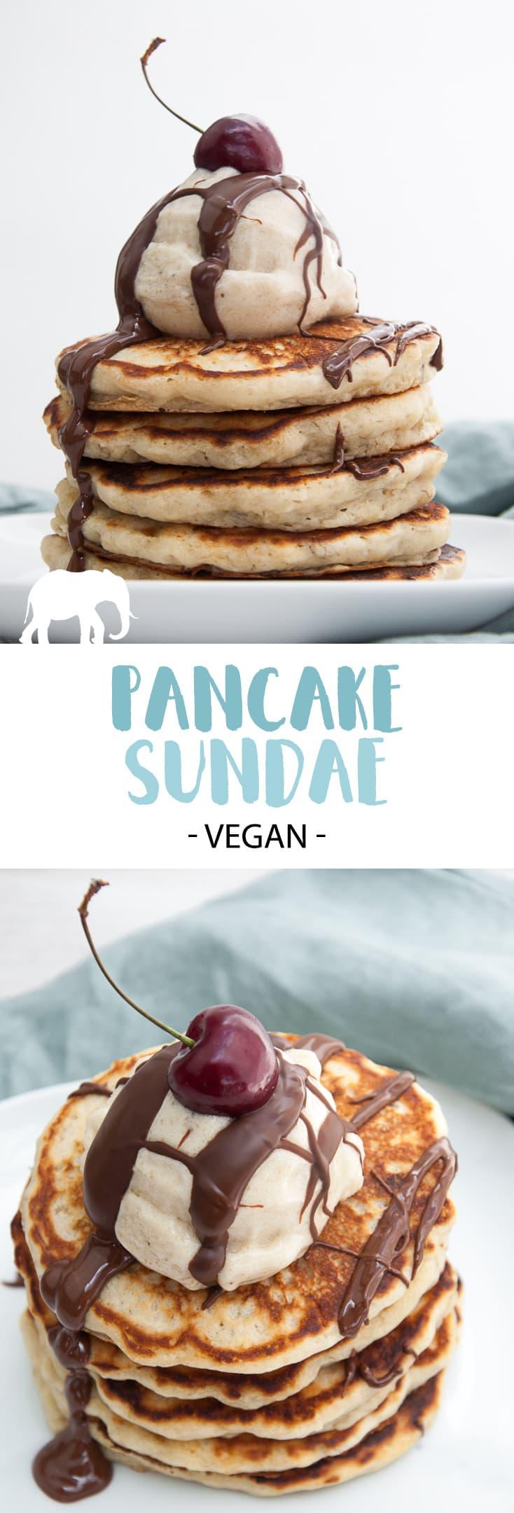 Vegan Pancake Sundae #vegan #pancake #sundae #pancakes