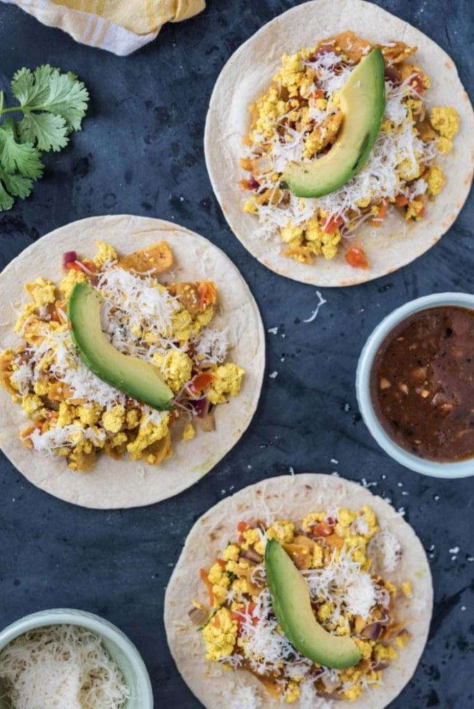 Vegan Migas Breakfast Tacos