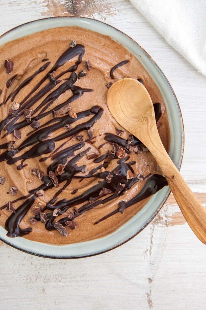2-Ingredient Chocolate Banana Ice Cream