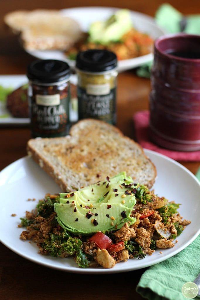 Tofu Scramble with Kale & Avocado