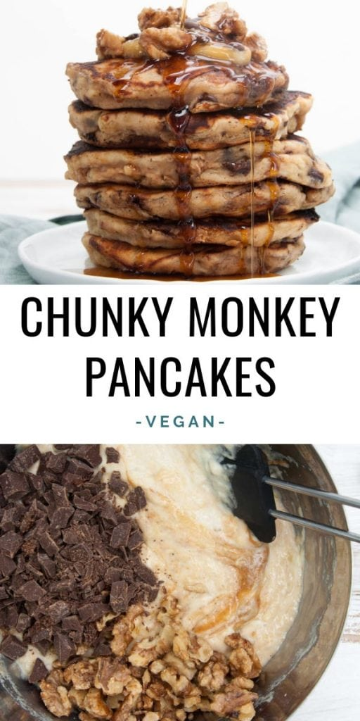 Vegan Chunky Monkey Pancakes
